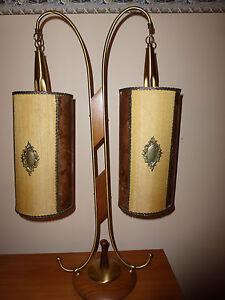 MID CENTURY DOUBLE SHADE TABLE/FLOOR LAMP DANISH STYLE | eBay