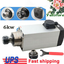 6kw Spindle Motor Er32 Air Cooled Cnc Router Mill Machine Engraving Grinding Usa