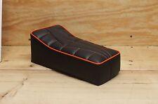 "14"" X 7"" BLACK/ORANGE MINIBIKE SEAT SCOOTER MINI BIKE MUSTANG PAK JAK POWELL MTD"