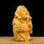 "thumbnail 3 - 2.8"" Chinese Box-wood Hand Carving Taoism Mammon Wealth God Yuanbao Ruyi Statue"