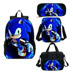 Sonic-the-Hedgehog-kids-Backpack-Schoolbag-Insulated-Lunch-Bag-Pen-Case-Gift-Lot