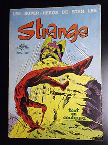 Strange N° 31  no Marvel BON ETAT PLUS