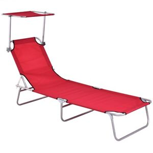 Image Is Loading Folding Outdoor Relax Chaise Lounge Beach Chair Bed
