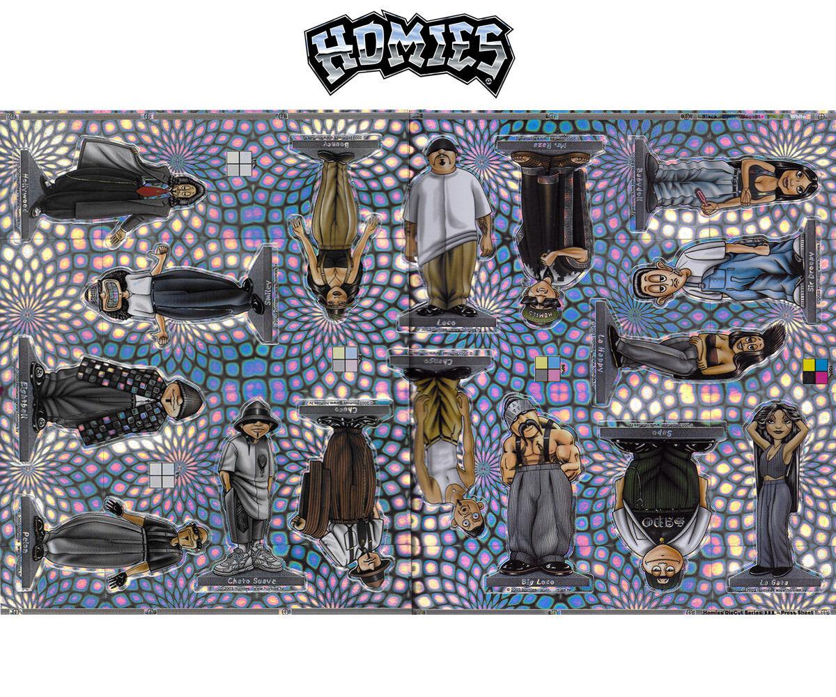 10x Homies Decal Sticker Set - 16 piece 16 PCs - 10 CM-Rarity