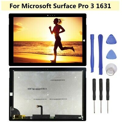 NEW Black For Microsoft Surface Pro 3 1631 LCD Touch Screen Digitizer Assembly