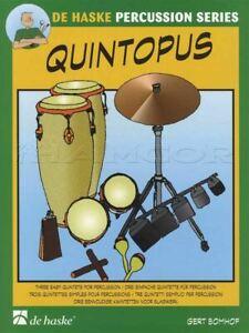 Bien Quintopus 3 Facile Quintettes Pour Percussion Score & Parts Sheet Music Book-afficher Le Titre D'origine