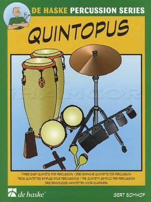 Quintopus 3 Easy Quintets For Percussion Score & Parts Sheet Music Book