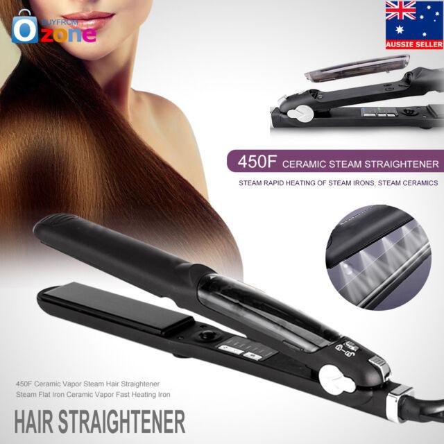 55W Steam Flat Iron Professional Ceramic Hair Straightener for Dry & Wet