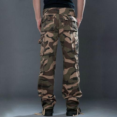 Herren Cargohose Army Cargo Militär Arbeitshosen Camo Camouflage Training Hosen