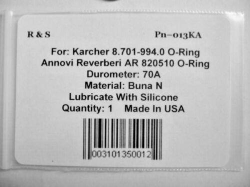 R/&S 013KA Karcher 8.701-994.0 /& Annovi Reverberi AR820510 O-Ring Buna 70