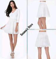 Bebe Maggie Lace Miniskirt Size L Dreamy Lace Miniskirt With Volumizing $102