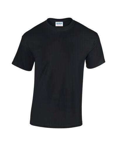 50 PLAIN HEAVY Black T-Shirts Worlds Best Seller Gildan GD05