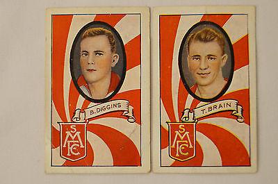 SOUTH MELBOURNE-T.BRAIN / B.DIGGINS  - 1930's - VINTAGE ALLENS CARDS