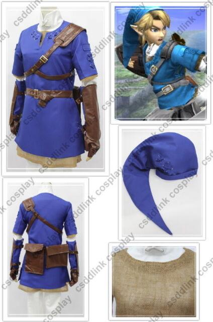 Legend of Zelda Twilight Princess Blue Link Cosplay Costume for sale ... c12afd638ab2