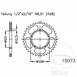 Rear Sprocket 49 Tooth Pitch 428 For Derbi GPR 125 4T