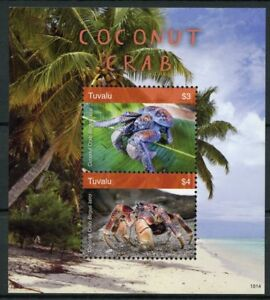 Tuvalu-2018-MNH-Coconut-Crab-2v-S-S-Palm-Trees-Crabs-Crustaceans-Marine-Stamps