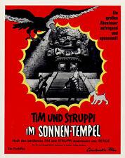 Tim und Struppi im Sonnen-Tempel ORIGINAL Aushangfoto Hergé ZEICHENTRICK-KULT