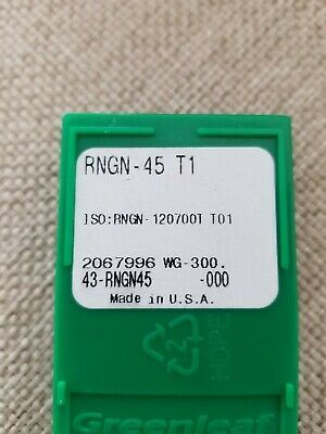 One box of ten GREENLEAF CNGN-453 T1 Brand New Ceramic Inserts