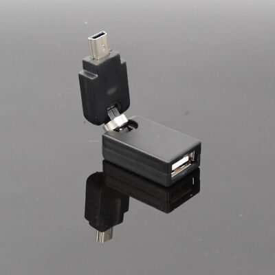 Cable Length: Other Cables Mini USB to USB 2.0 Female 180 X360 Flexible Angled 360 Degree Rotating to Mini USB OTG Adapter Cable