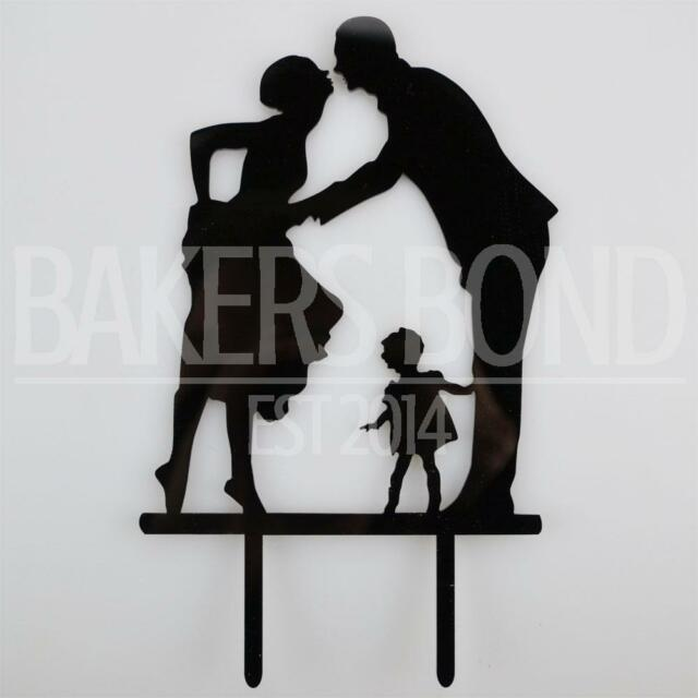 Cool Family Bride Groom Child Acrylic Wedding Day Cake Topper Silhouette Gamerscity Chair Design For Home Gamerscityorg