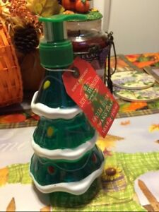 Christmas Tree Soap Filled Pump Dispenser Nwt Frosty