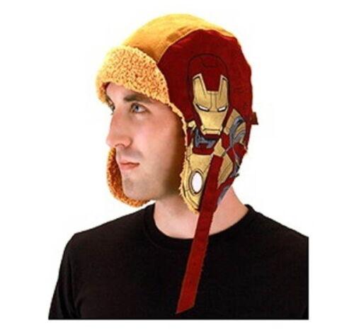 Marvel Comics Iron Man 3 Movie Licensed Aviator Laplander Style Hat NEW UNWORN