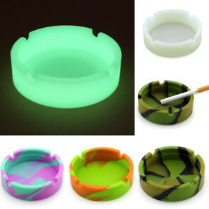 Portable-Durable-Silicone-Ashtray-Soft-Round-Luminous-Fluorescent-Ashtray
