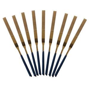 10Pcs//Set Titanium Diamond Coating Needle Flat File Set Metal Working Craft Tool