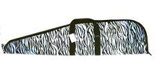 """42"""" Zebra Soft Padded Rifle Bag Range Gun Hunting Case Animal Print Ladies"""