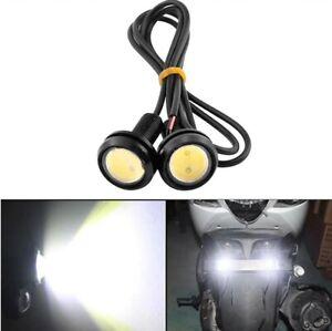 Ampoule LED Encastrable Universel Feux de Jour Auto Moto 18mm Blanc 6000K