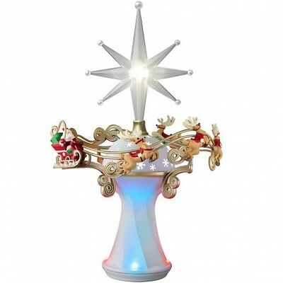 "Hallmark 2014 Tree Topper ""Here Comes Santa Claus"" NIB"