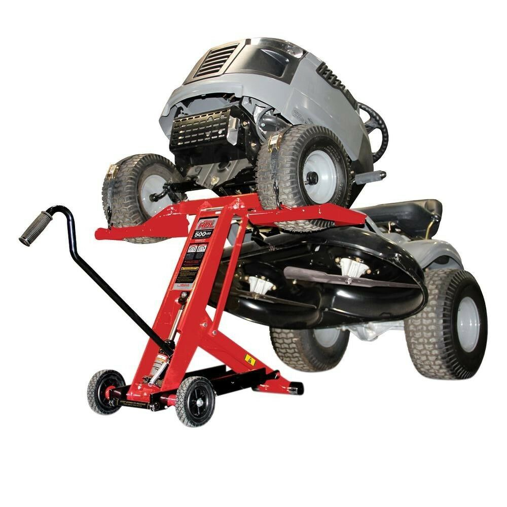 Lawn Mower Lift Tractor Hydraulic Jack Raiser Safety Lock Lifter Zero Turn Wheel