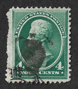 USA-1882-4c-Green-JACKSON-Good-Used-CV-25-c-30-00-SG-214-2015-ed