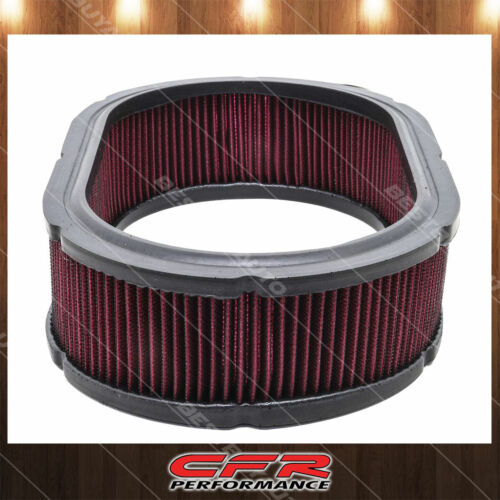 """Cotton 12/"""" X 3/"""" Universal Oval Reusable Washable Air Cleaner Filter Red"""