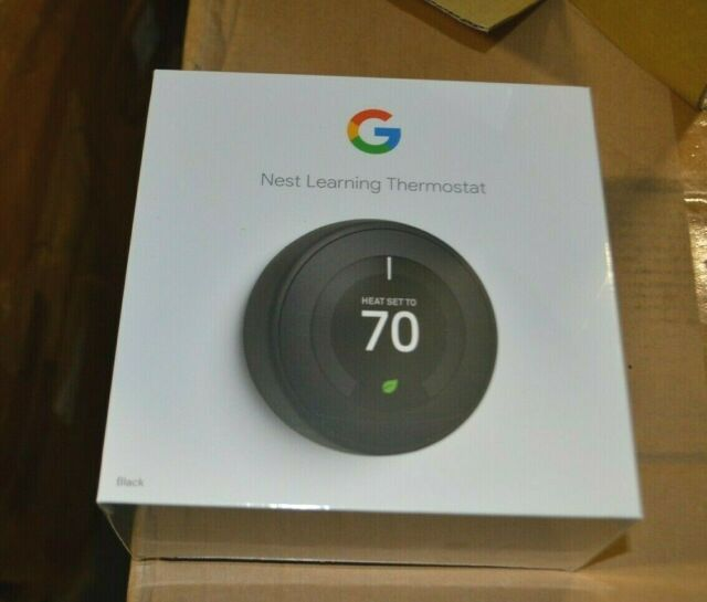 Nest Learning Thermostat, 3rd gen, blackl, Model T3016US