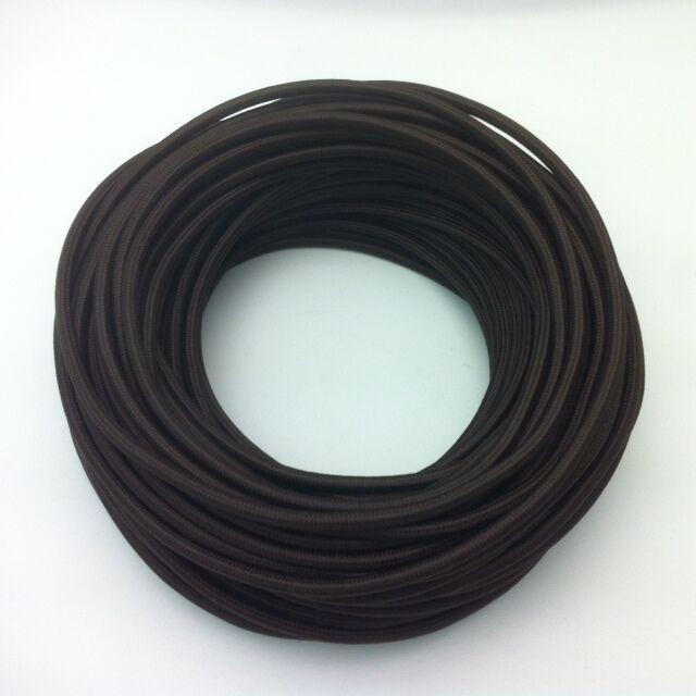 50m Design Textilkabel Stoffkabel Dunkelbraun 2x0,75 Top EU Qualität