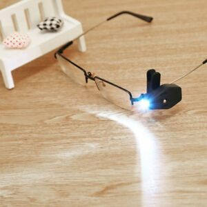 b0e71a1e4dd Flexible LED Clip On Eyeglass Lamp Safety Reading Glasses Lights ...