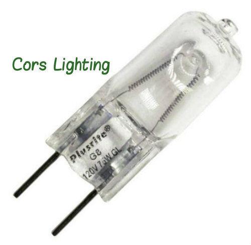 75W G8 75-watt 120v t4 Halogen light bulb Plusrite 3412 5