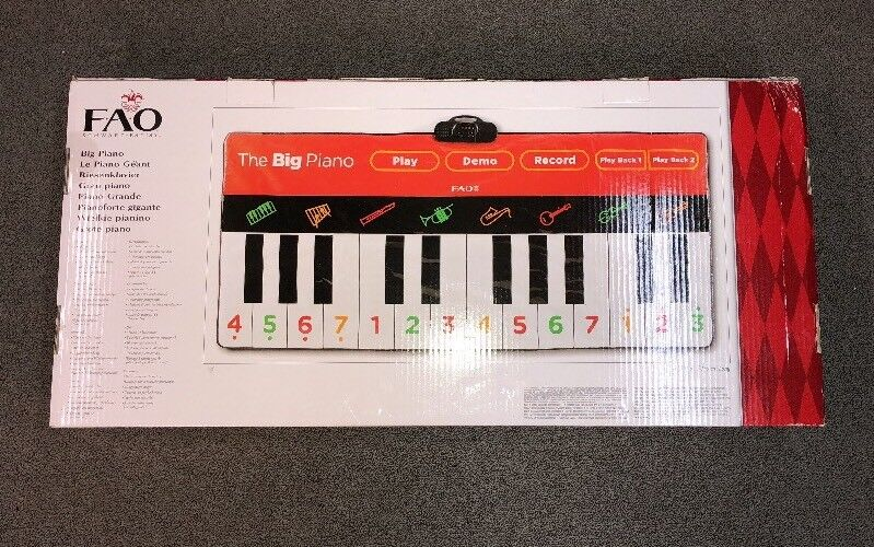 FAO black The  BIG  Piano MINT in Box XL Floor Keyboard