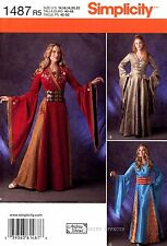 Simplicity Pattern 1487 Women's Medieval Renaissance Costume 14-22 Dress Gown