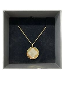 NEW, DYRBERG/KERN GOLDEN NECKLACE, WITH BOX, $130