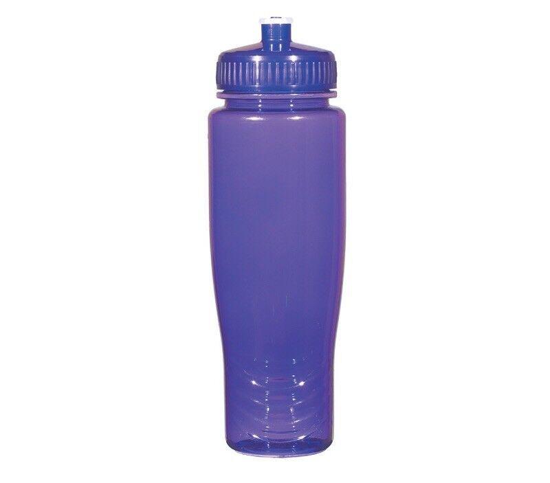 100 Paquete a granel 28 onzas de botellas de agua púrpura Tapas. USA Made