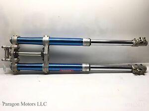 93-1-89-04-Kawasaki-KX500-KX-500-Front-Forks-Fork-Clamp-Triple-Tree-Tripple