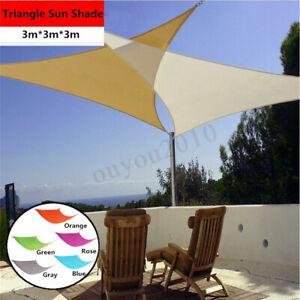 Sun Shade Triangle Voile Eau Auvent Patio Auvent De Jardin Couverture Auvent Uv-afficher Le Titre D'origine Divers ModèLes RéCents
