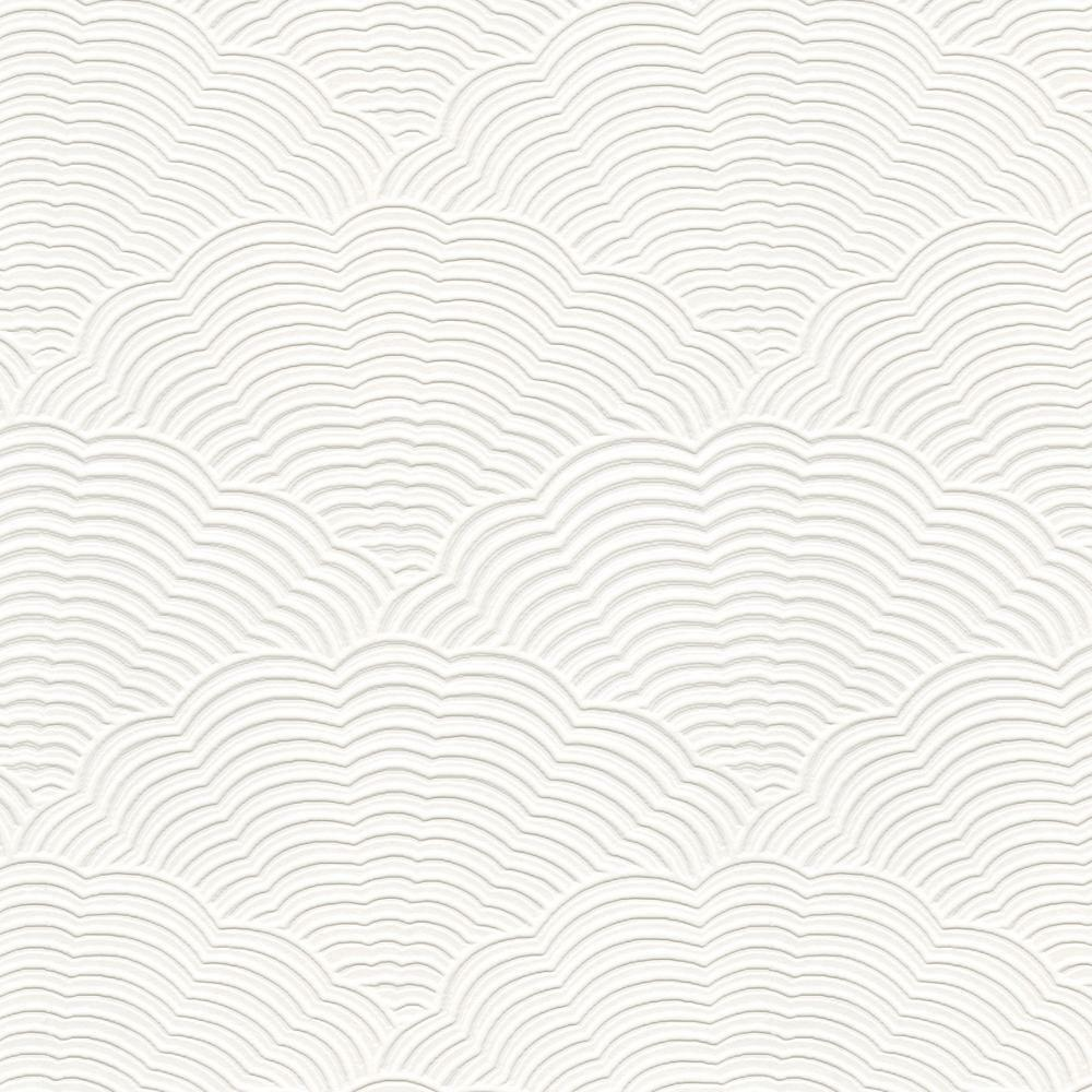 White Blown Vinyl Wallpaper BOX OF 6 Embossed Textured Paintable Fan Artex