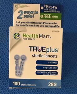Details about Trividia Health Mart TruePlus Sterile Lancets, 28G - box of  100