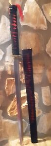 Vintage-PAKISTAN-SWORD-25-034-Blade-w-28-034-SHEATH-Red-amp-Black