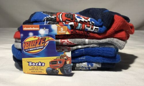 4T 5 Pairs NEW Nickelodeon BLAZE Toddler Boys Socks Size 2T