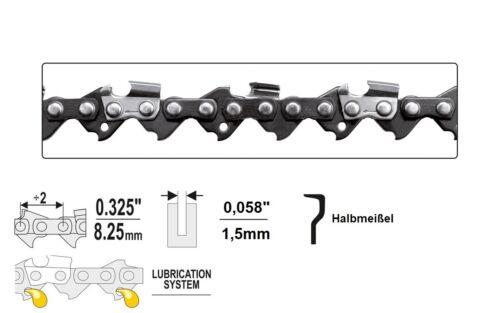 "Sierra de cadena 0.325/"" x 1,5 x 30-80 TG halbmeißel motosierra cadenas de sierra"