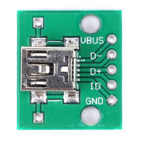 5 pcs Mini USB to DIP Adapter Plate Converter for 2.54mm PCB Board